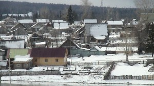 Landsbygda i Russland slit med økonomien og framtidstrua. Foto: Wikipedia