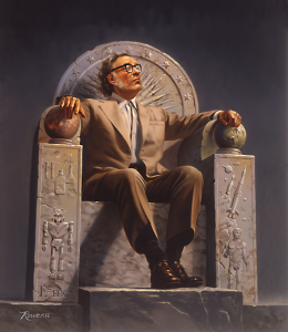 Isaac Asimov på trone