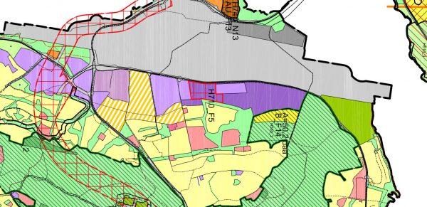 Utsnitt forslaget til arealplan - Mortensnes - Håpet