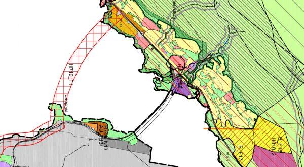 Utsnitt forslaget til arealplan - Kvaløysletta